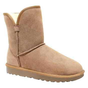 Kirkland Signature Women's Scalloped Shearling Boot in 2 Colours and 5 Sizes