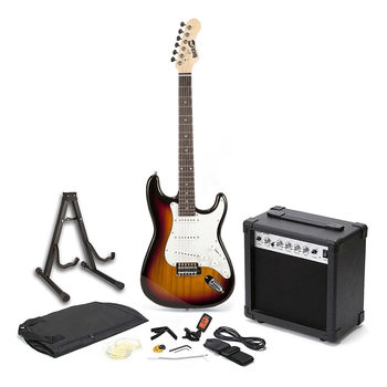 RockJam Electric Guitar Bundle in Sunburst