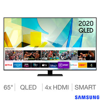 Samsung QE65Q80TATXXU 65 Inch QLED 4K Ultra HD Smart TV