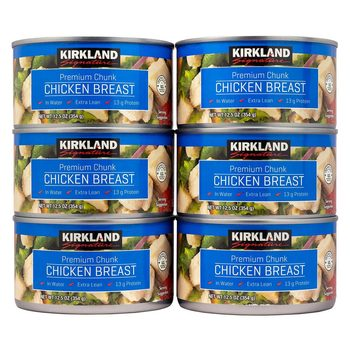 Kirkland Signature Premium Chunk Canned Chicken Breast, 6 x 354g