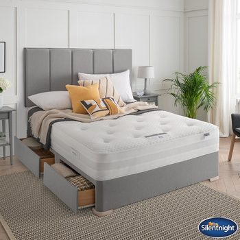 Silentnight Geltex 1000 Mattress & Slate Grey Divan in 4 Sizes