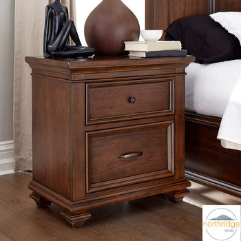 Northridge Conner Nightstand with 2 Storage Drawers