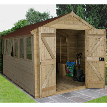Installed Forest Garden 8ft x 12ft (2.4 x 3.7m) Tongue & Groove Shed