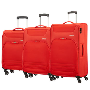 American Tourister Bombay Beach 3 Piece Softside Suitcase Set in Tropic Orange