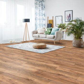 Golden Select Toledo (Walnut) Laminate Flooring with Foam Underlay - 1.16 m² Per Pack