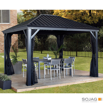 Sojag Marsala 10ft x 12ft (2.98 x 3.63m) Sun Shelter with Galvanised Steel Roof + Insect Netting