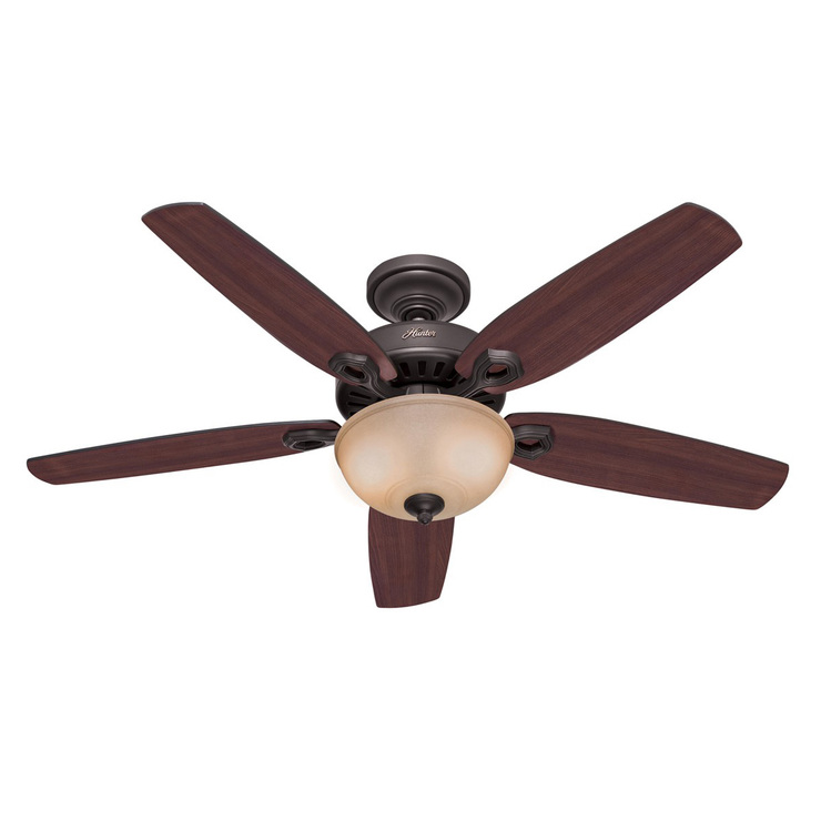 Hunter Builder Deluxe 5 Blade 132cm Indoor Ceiling Fan With Lights Costco Uk