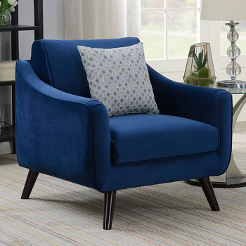 Bainbridge Blue Velvet Armchair