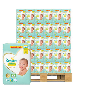 Pampers Premium Protection Nappies Size 3, 126 x 66 Jumbo Packs