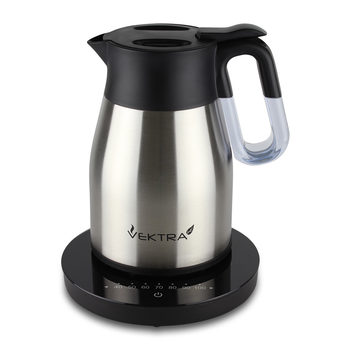 Vektra Temperature Controlled Eco Vacuum Kettle in Stainless Steel, VEK-1504
