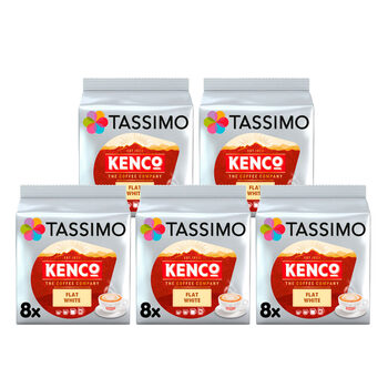 Tassimo Kenco Flat White Coffee Pods, 40 Servings