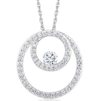 0.40ctw Round Brilliant Cut Diamond Pendant, 18ct White Gold