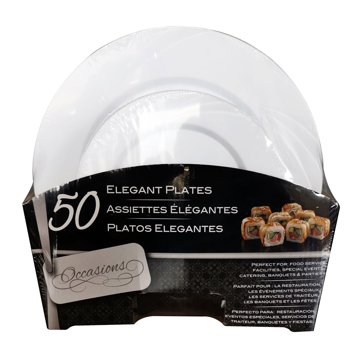 Cafe Express Assorted Plate Set 17cm And 26cm Pack Of 50 Costco Uk