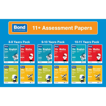 Bond 11+ Assessment Papers 4 pack, Age 8 - 11