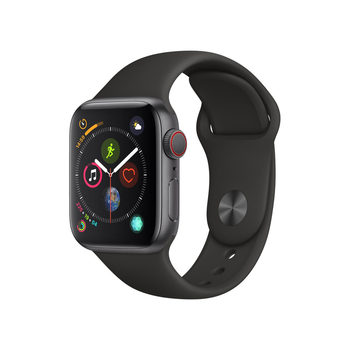 Apple Watch Series 4,MTVD2B/A, GPS & Cellular, 40mm Space Grey Aluminium + Black Sports Band