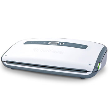 FoodSaver Vacuum Sealer with Roll Storage, White FFS012-01