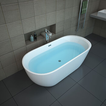 Platinum Spas Toulouse Freestanding Modern Bath, 1700 x 850 x 600mm