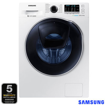 Samsung WD80K5B10OW/EU 8kg/6kg, 1400rpm Add Wash™ ecobubble™ Washer Dryer B Rating in White