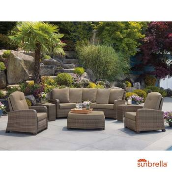 Barcalounger 6 Piece Fully Woven Recliner Seating Set