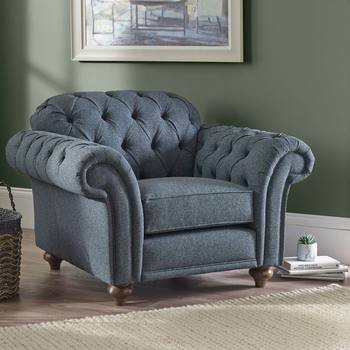 Bordeaux Button Back Fabric Armchair in 2 Colours