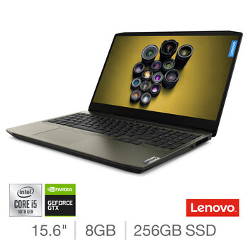 Lenovo IdeaPad Creator 5i, Intel Core i5, 8GB RAM, 256GB SSD, NVIDIA GeForce GTX 1650, 15.6 Inch Gaming Laptop, 82D4000MUK
