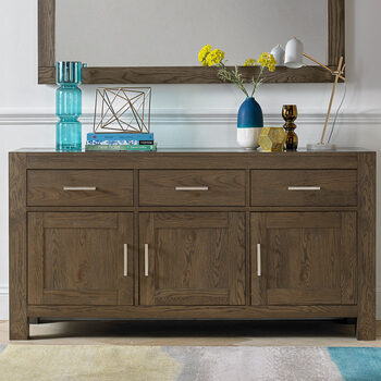 Bentley Designs Milan Dark Oak Wide Sideboard