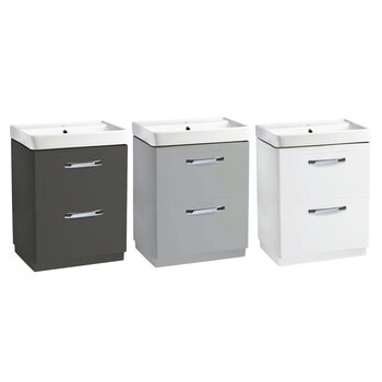 Tavistock Curve 2 Drawer 600mm Floor Mounted Vanity Unit in 3 Colours