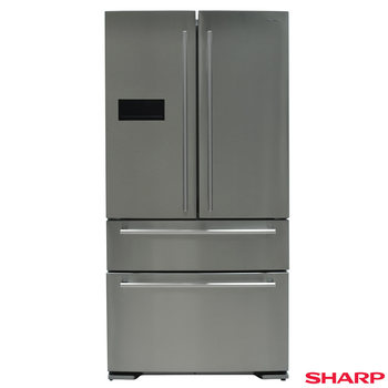 Sharp SJ-F1529E0I, Multidoor Fridge Freezer A+ Rating in Inox