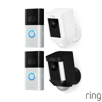 Ring Video Doorbell 3 with Ring Battery Spotlight Cam in 2 Colours