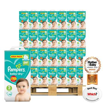 Pampers Baby-Dry Nappies Size 5, 54 x 108 Giga Packs