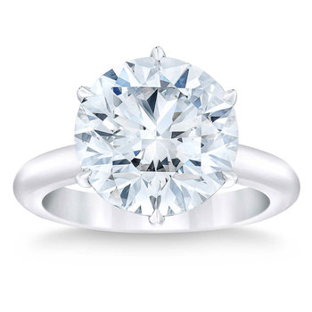 7.45ct Round Brilliant Cut Diamond Solitaire Ring, Platinum