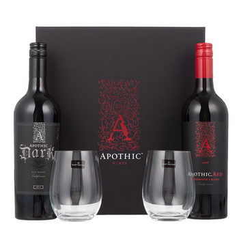 Apothic Red Wine Gift Pack, 2 x 75cl with 2 Tumblers