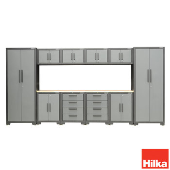 Front facing image of Hilka 11 piece storage on white background