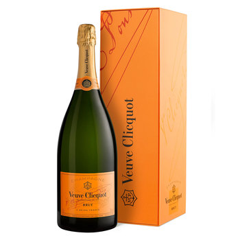 Veuve Clicquot Yellow Label Brut NV Champagne MAGNUM, 1.5L with Gift Box