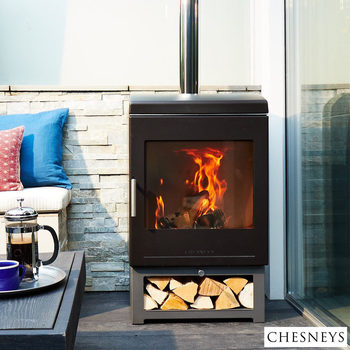 Installed Chesneys Clean Burn Outdoor Wood Burning Stove