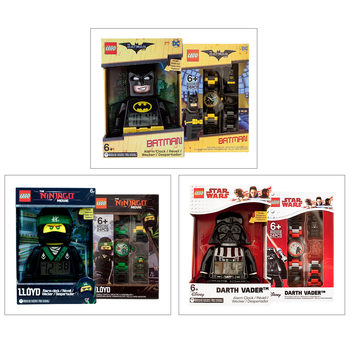 "LEGO Hero 9.4"" (24cm) Alarm Clock And Buildable Watch Assortment (6+Years)"