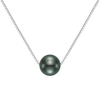 8-9mm Tahitian Pearl Pendant, 18ct White Gold