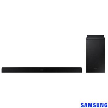 Samsung T550, 2.1 Ch, 360W, Soundbar and Wireless Subwoofer with Bluetooth and DTS:X, HW-T550/XU