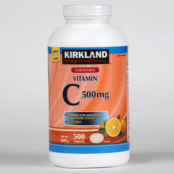 Kirkland Signature Chewable Once Daily Vitamin C, 500 Tablets (16 Months Supply)