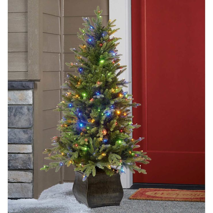 Pre Lit Christmas Trees At Costco: Aspen 4ft 6 Inches (1.3m) Pre-Lit 200 Micro-Dot LED Dual
