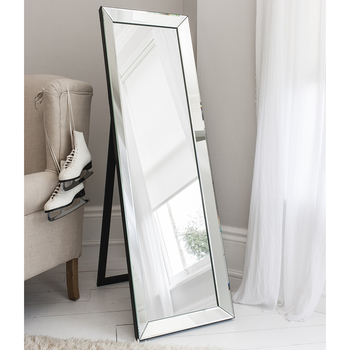Gallery Luna Cheval Mirror with Stand in 3 Colours, 155 x 48 cm