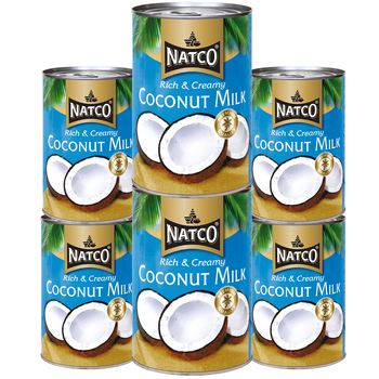 Natco Coconut Milk, 6 x 400ml