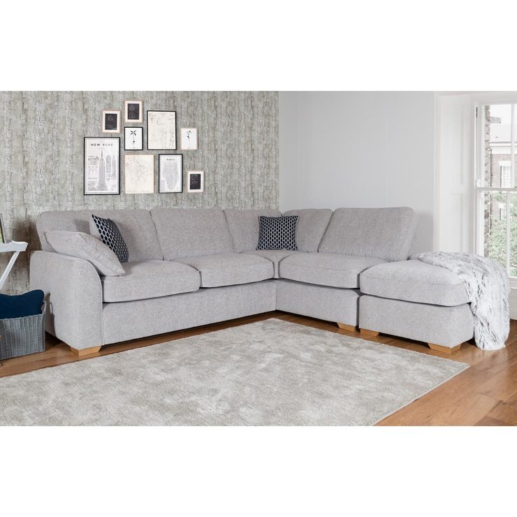 Lorna Grey Fabric Corner Sofa | Costco UK