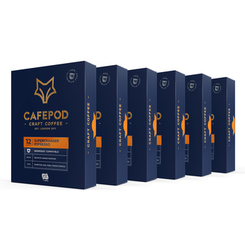 CafePod Supercharger Aluminium  Nespresso Compatible Coffee Pods, 108 Servings