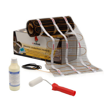 Varme 200W/m²  Electric Underfloor Heating Cable Mat System - 9m² (for an area of 10m²)