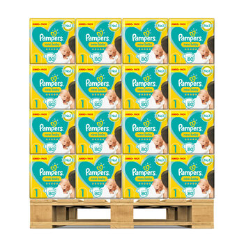 Pampers New Baby Nappies Size 1, 117 x 80 Jumbo+ Pack