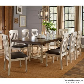 Universal Broadmoore Extending Dining Room Table + 8 Chairs