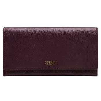 Osprey Nappa Leather Women's Purse, Bordeaux with Gift Box