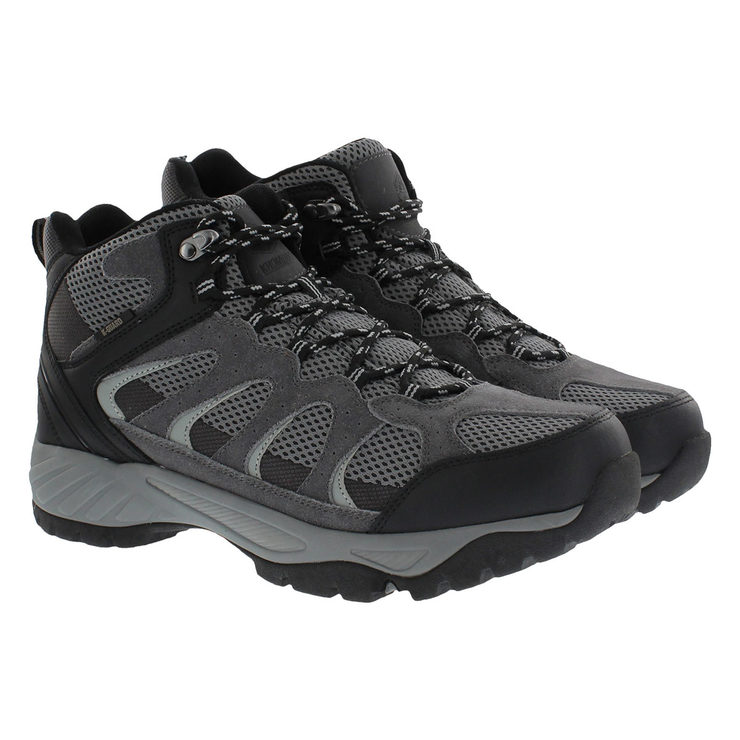 172216acc87c Khombu Men s Black Suede Hiking Boot