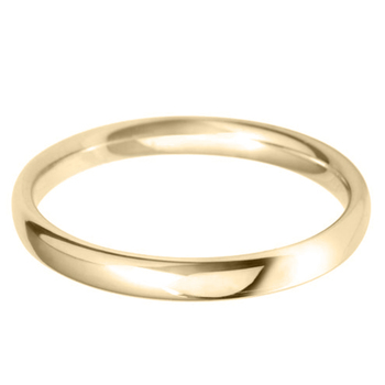 Ladies 2.5mm Court Wedding Band, 18ct Yellow Gold in 2 Sizes